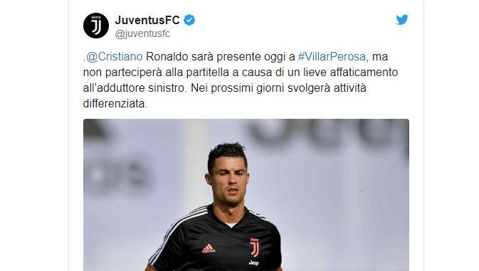infortunio di Cristiano Ronaldo